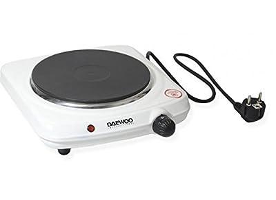 Daewoo DEAW-DI9302 Solid Disc 1500-watt Portable Burner, White, 220-volt