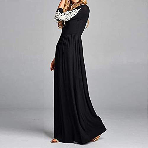 POLP Vestidos Largo Mujer ◉ω◉ Encajes para Vestidos, Vestido Largo Fiesta Mujer, Falda Larga Mujer, Vestido Largo Negra, Vestido Manga Larga Mujer, ...