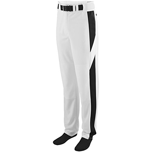 - Augusta Sportswear Men's Series Color Block Baseball Pant M White/Black