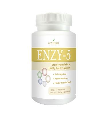 GC Natural ENZY-5 Enzyme Formula for a Healty Digestive System 600 extract balls by by GC Natural
