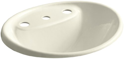 8 Fd Cane Sugar (KOHLER K-2839-8-FD Tides Bathroom Sink, Cane)