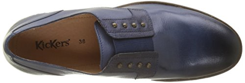 Noir Low Azul Mujer Zapatos Cordones Derby de Marine para Kickers 103 zwCdBqC