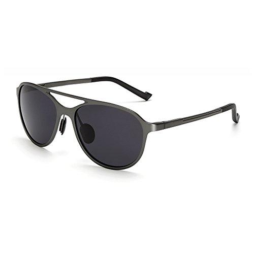 sol UV de conducción Mengonee Hombres de protección de y libre aluminio de UV Lentes Gris gafas magnesio anti Gafas 400 sol al aire polarizadas xwBvYqaw
