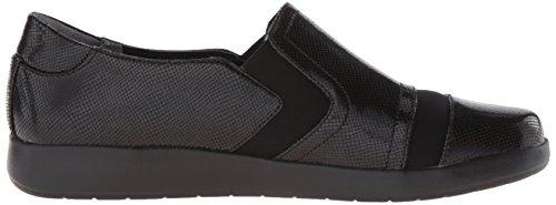 Rockport Dames Devona Desma Slip-on Loafer Zwart Glimmend Leer