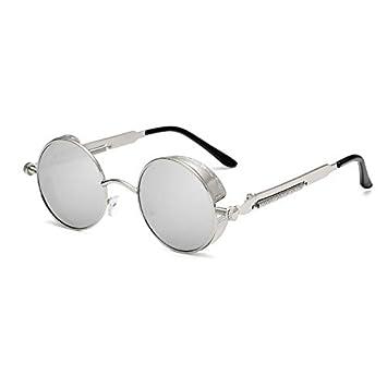 ZJMIYJ Gafas De Sol Steampunk Gafas Redondas Mujeres Hombres ...