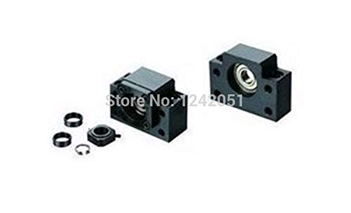 LIGHTHINKING BK12 BF12 Set : one pc of BK12 and one pc BF12 for SFU1605 Ball Screw End Support CNC Parts