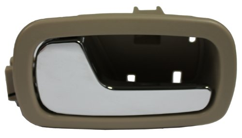 LatchWell PRO-4001544 Driver Side Front or Rear Interior Door Handle in Tan & Chrome for Chevy Cobalt & Pontiac G5
