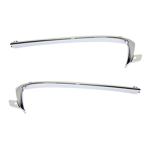 14-15 Camaro Front Upper Grille Trim Grill Molding Chrome Left & Right SET PAIR