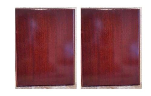 Pack of 2 Rosewood Piano Finish Blank Wood Plaque 7