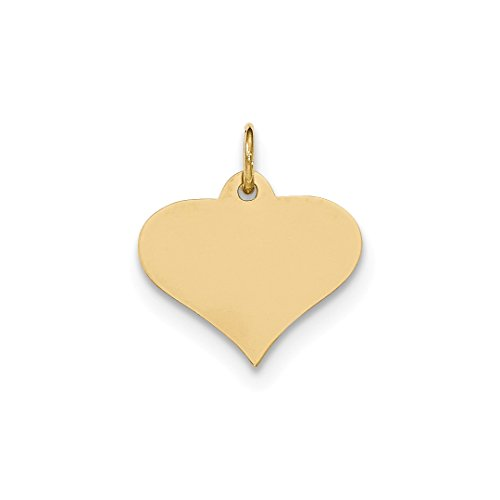Tiffany Style Heart Toggle Bracelet - Cyber Monday Deals - 14k Yellow Gold .011 Gauge Engraveable Heart Disc Pendant Charm Necklace Love Engravable Shapely Fine Jewelry For Women Gift Set