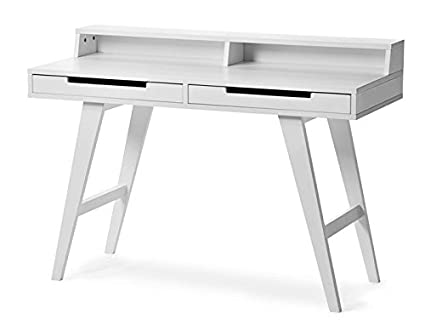 Aprodz Solid Wood Hedwig Study Desk Table for Home and Office | White Finish