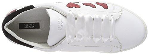 Steffen Sneaker 209 Street white Bianco Schraut Love red 37 Donna xFIwZFrqA