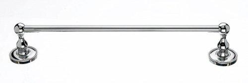 Top Knobs ED6A Edwardian Bath 18 Inch Single Towel Bar Beaded Backplate, Polished Chrome