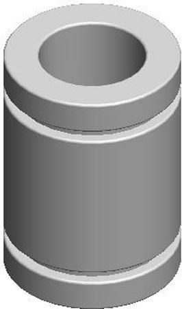 LM76 LMB-5 Closed Linear Plain Bearing .3755 I.D. .6250 O.D x .875 Long