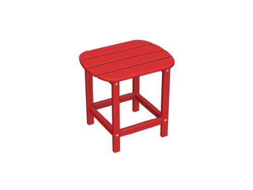 South Beach 18 inches Recycled Plastic Side Table by Poly-Wood Adirondack
