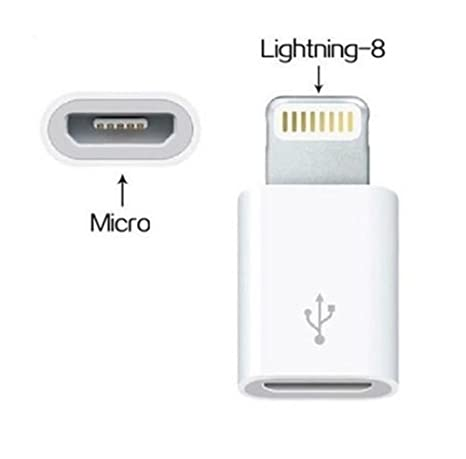 AKSHAJ Micro USB to Lightning 8pin Adapter Converter Charger For Apple iPhone 5 5S 5C 6  sc 1 st  Amazon India & AKSHAJ Micro USB to Lightning 8pin Adapter Converter Charger For ... azcodes.com