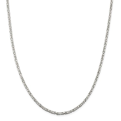 Lex & Lu Sterling Silver 2mm Byzantine Chain Necklace or Bracelet-Prime