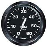 Faria Beede Instruments 12827 Faria Euro Black 2' Trim Gauge J/E/Suzuki Outboard