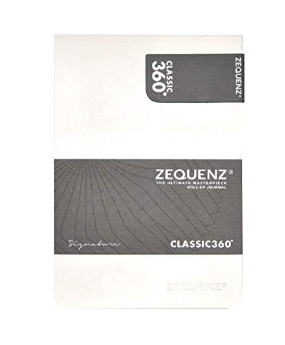Zequenz Classic 360 Soft Bound Journal, Soft cover Notebook, White, Medium, 5