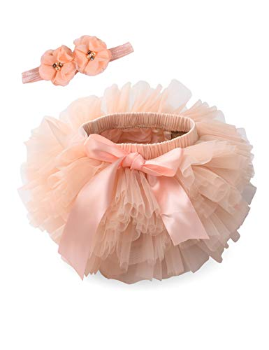 Orange Tutu With Headband - Baby Girls Tutu Bloomers Diaper Cover
