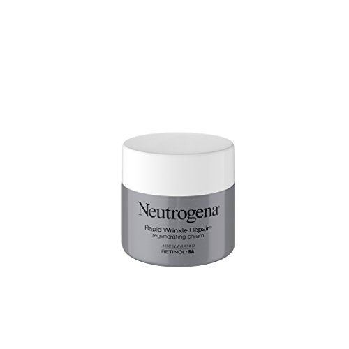 (Neutrogena Rapid Wrinkle Repair Retinol Regenerating Face Cream & Hyaluronic Acid Anti Wrinkle Face Moisturizer, Neck Cream, with Hyaluronic Acid & Retinol, 1.7 oz)