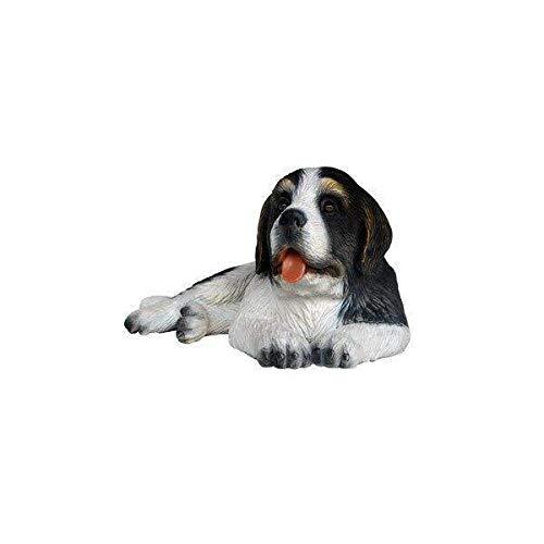 LM Treasures Dog Saint Bernard Puppy Dark Brown Animal Prop Life Size D̩ecor Resin - Bernard Statue