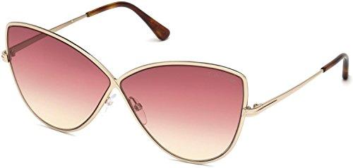 (Sunglasses Tom Ford FT 0569 Elise- 02 28T shiny rose gold / gradient bordeaux)