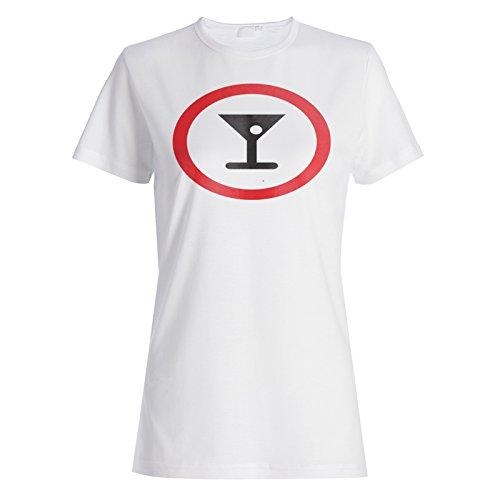 Nicht erlaubt Cocktails Zeichen Lustige Vintage cal Damen T-shirt c641f