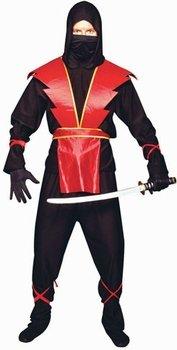 Adult Red Ninja Costume (Size Standard 42-46)  sc 1 st  Amazon.com & Amazon.com: Adult Red Ninja Costume (Size: Standard 42-46): Clothing