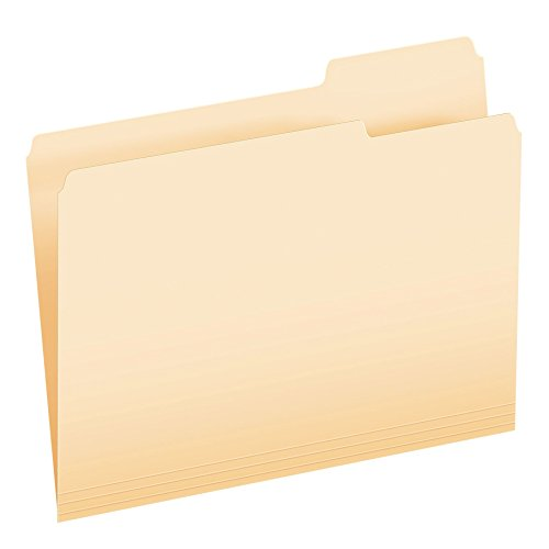 Pendaflex Essentials File Folders, Letter Size, 1/3 Cut, Position 3, Manila, 100 per Box (752 1/3-3)