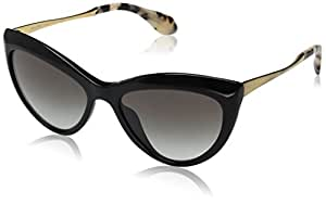 MIU MIU Peaked Cateye Sunglasses in Black MU 08OS 1AB0A7 54 54 Gradient Grey