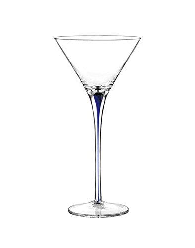 Tempest Cobalt Martini Glass (Set of 4) Qualia Glass Q391009