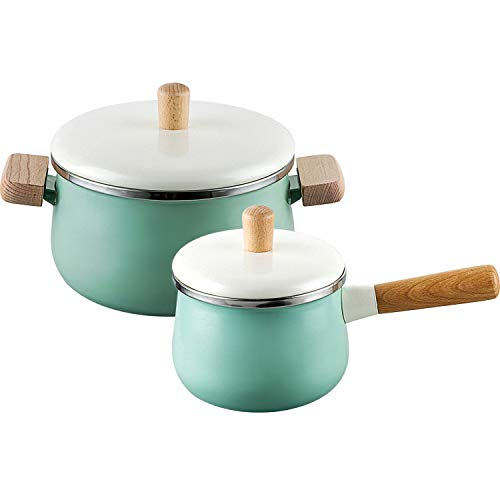 Magicpro 4 pcs non-stick ceramic Saucepan and milk pot with lids