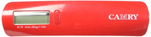 Camry 5.31 x 3 Inches Digital Luggage Scale, Red, One Size by CAMRY