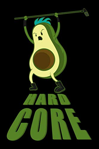 - Journal: Hardcore Avocado Eater Rock and Roll Funny Black Lined Notebook Writing Diary - 120 Pages 6 x 9