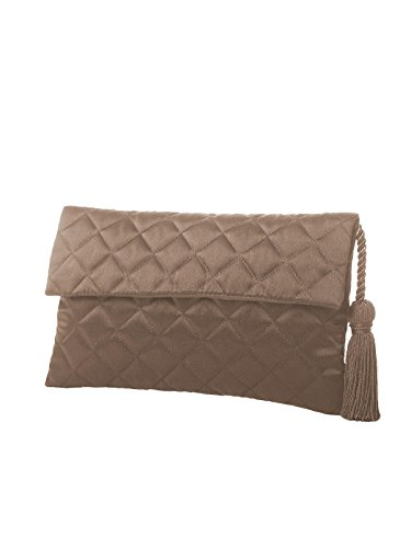 Matching Clutch Quilted by Women's Dessy Envelope Detail Tassel Purse Topaz with EXwUq