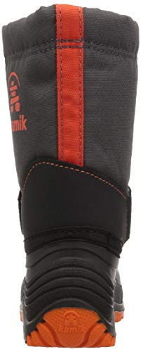 Pictures of Kamik Boys' ROCKETW Snow Boot, Charcoal/Flame, 8 Wide US Toddler 8