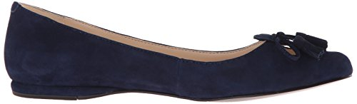 Nine West Womens Simily Suede Pointed Toe Flat Navy