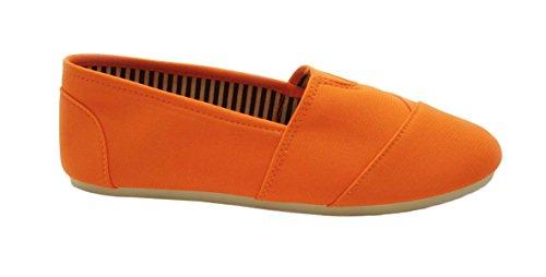 Sandalo Sarah Casacca Casual In Tessuto Per Donna Per Bambina (colori Assortiti) Arancio Neon