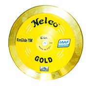 NelcoイエローDiscusゴールド真鍮rimglide 75 - M - 246 ' 2 K with Authenticロゴ   B075DH2VLJ