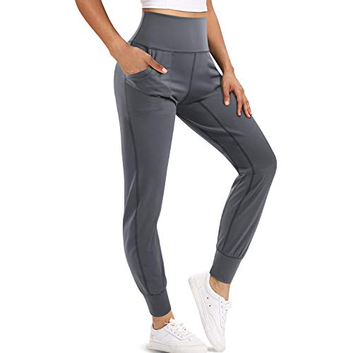 LEINIDINA Women's Jogger Pants High Waisted Sweatpants with Pockets Tapered Casual Lounge Pants Loose Track Cuff…