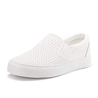 JENN ARDOR Women's Fashion Sneakers Perforated Slip on Flats Comfortable Walking Casual Shoes...