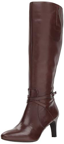 Lauren Ralph Lauren Women's Elberta-W Fashion Boot, Dark Brown, 10 B US