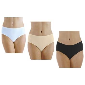 5f083d2c9 3-Pack Hush Hush Women s Seamless Light Absorbency Panties Assorted 1X -  Reusable Underwear for