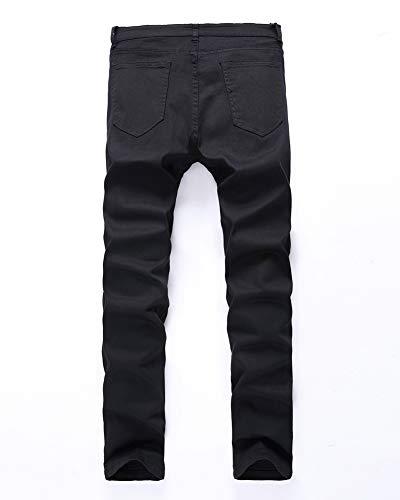 para Hombres,Destruido Ajustados Hombre Estilo los Pernera G Jeans de Hombre Pantalones, Recta,Jeans Rasgados Vaqueros Ocio DaiHan Iw7qR7