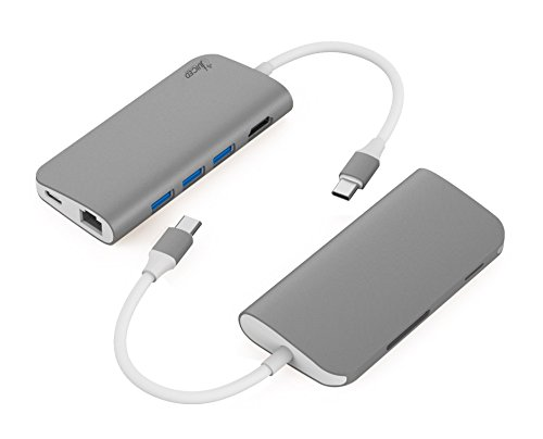 Juiced Systems BizHUB USB-C Multiport Gigabit HDMI Hub, 3x USB 3.0 Ports, Gigabit Ethernet, HDMI 4K, SD/Micro SD, USB-C Power Delivery by Juiced Systems (Image #1)