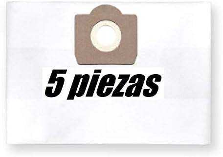 5x bolsas para aspirador tejido Parkside PNTS 1250/9, PNTS 250 ...