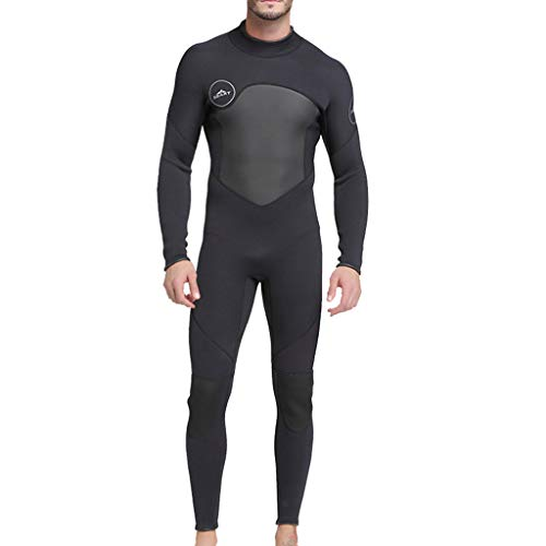 Allywit Neoprene Wetsuit Men Full Suit Scuba Diving Thermal Wetsuit 3MM Long Sleeve Spearfishing Suit Black by Allywit (Image #3)