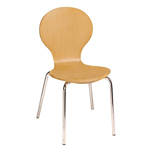 Norwood Commercial Furniture Natural Wood Café Chair, NOR-TSU1085SH-SO (Pack of 2)