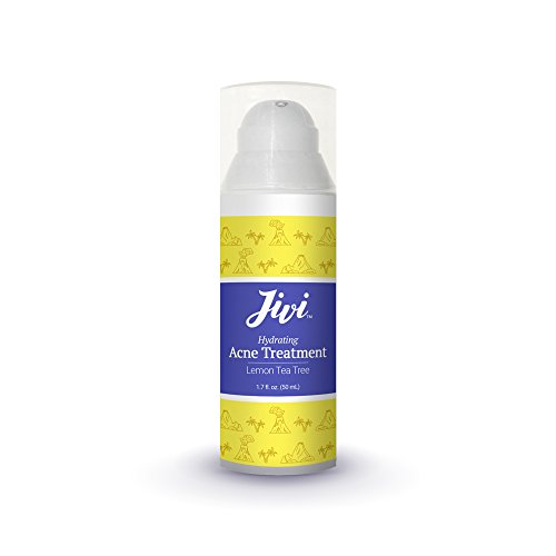 Jivi Hydrating Acne Treatment (Lemon Tea Tree) | Spot Treatment that Eliminates Breakouts and Scarring | 100% Natural with Organic Ingredients | Made for All Skin Types | 1.7 fl. oz.